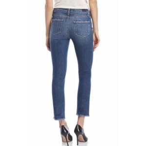 Paige Jacqueline Straight Rare Embroidered Jeans
